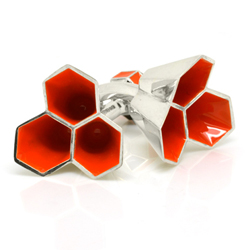 Honeycomb Dream Cufflinks - Alexandra Tosto