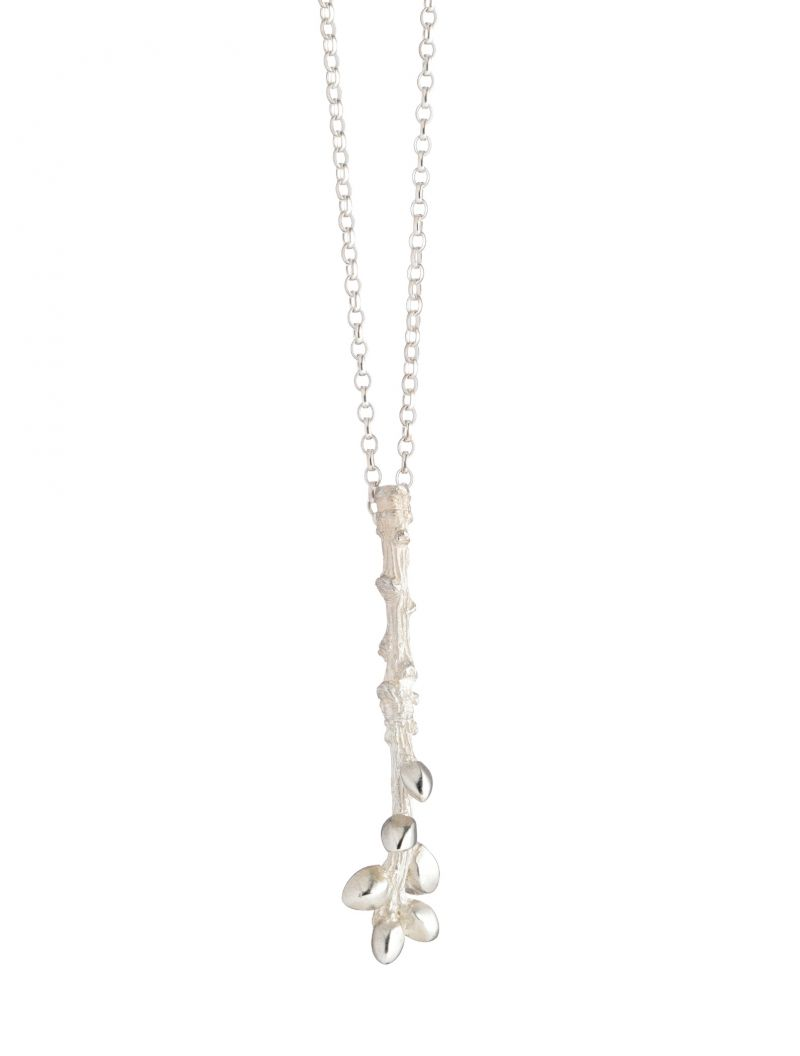 SingleBud_Necklace<br />The Single Bud Necklace measures approximately 4.7cm x 0.4cm and weighs approximately 4gms (slight variations in size and weight are possible due to the hand finishing of each item) www.tracywinnjewellery.co.uk